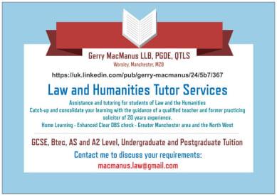 Law Tutor Services