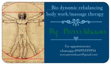 Bio dynamic rebalancing massage therapy( Myo fascial energy release body work)