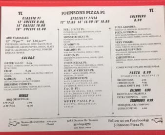 Johnsons Pizza Pi
