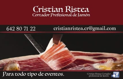 Cristian Ristea Cortador Profesional De Jamón
