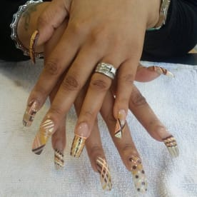 Nails feet and face