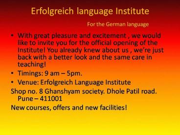 Erfolgreich Language Institute