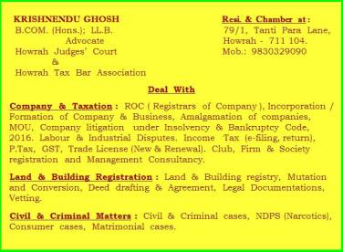 Advocate Krishnendu Ghosh