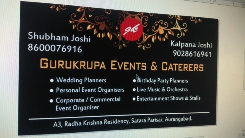 Gurukrupa Event's And Caterers..