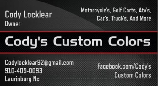 Cody's Custom Colors