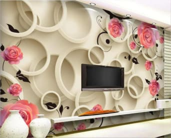 False Ceiling And Wallpaper