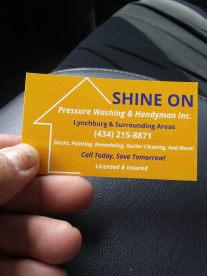 Shine On Pressure Washing & Handyman Inc.
