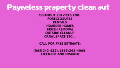 Payneless Property Cleanout
