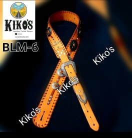 Kiko's Leather Guitar Straps