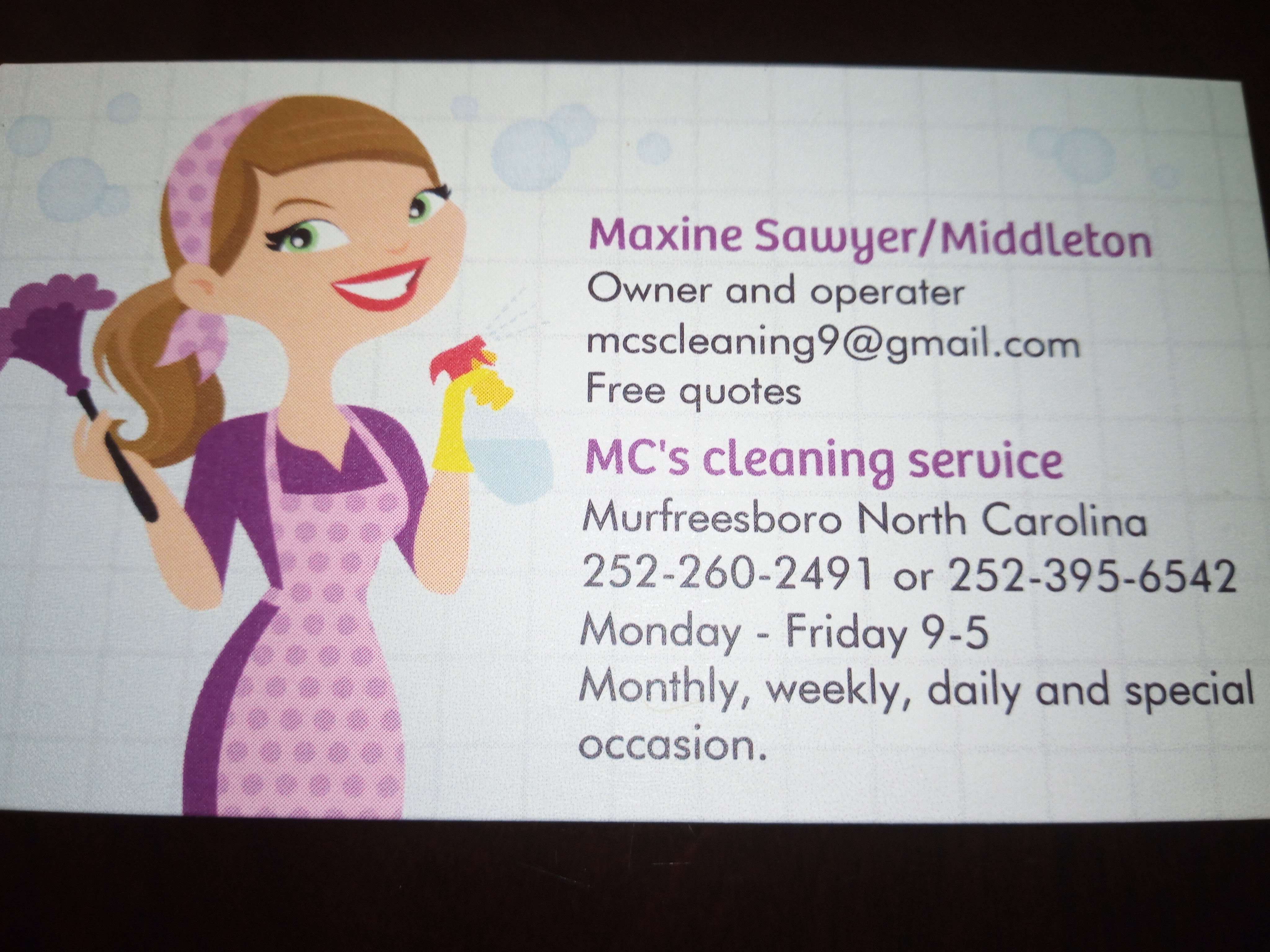 Mc'S Cleaning Service
