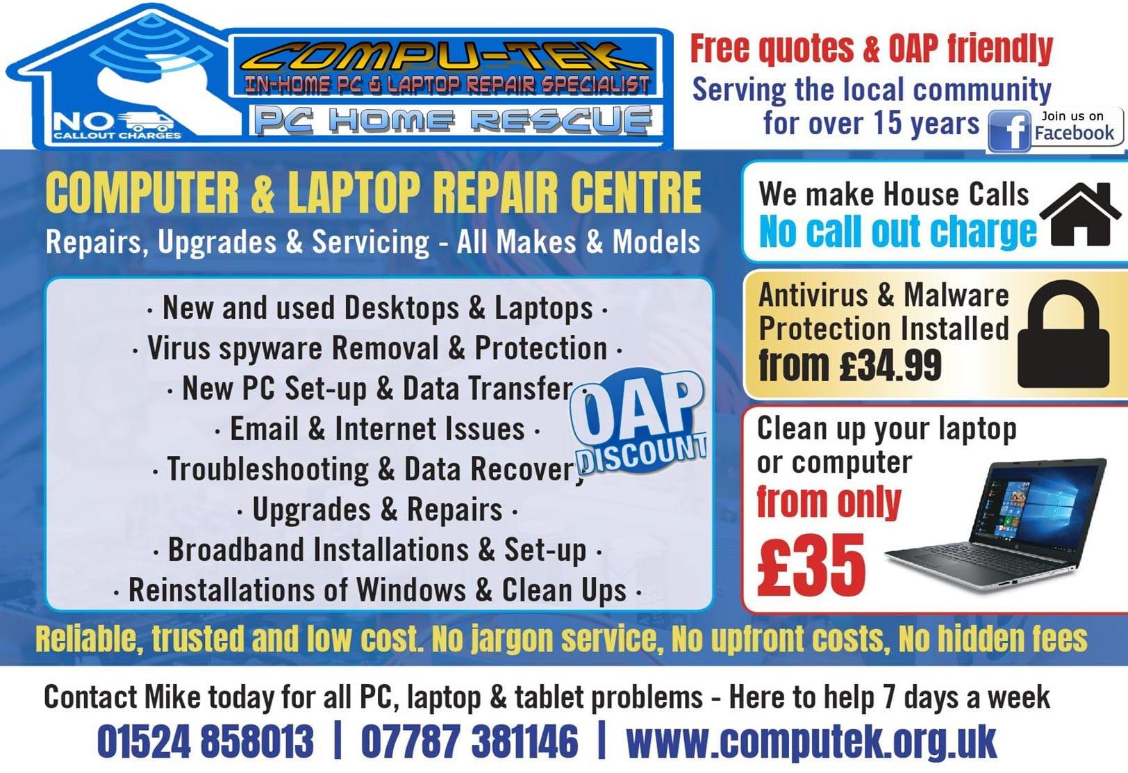 Compu-Tek in home PC services